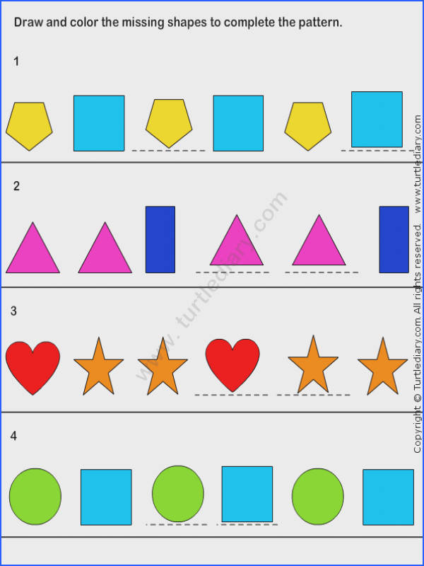 Pattern Match Worksheet31 math Worksheets kindergarten Worksheets