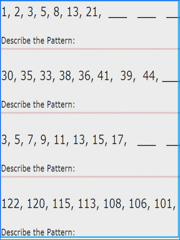 Pattern Worksheets For 3 Worksheets for all Download and Worksheets