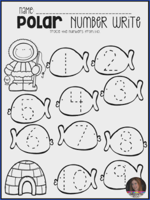 Polar Animal Math and Literacy Worksheets and Printables for Preschool is a no prep packet packed full of worksheets and printables to help reinforce and