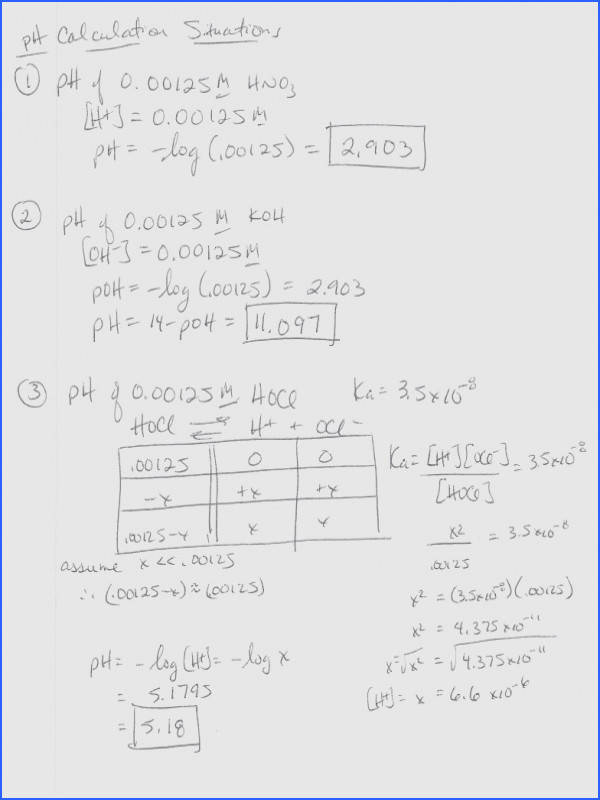 Ph Calculation Worksheet The Best and Most prehensive Worksheets