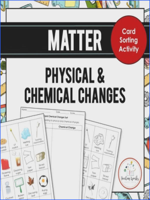 Matter Physical and Chemical Changes Card Sorting Activity