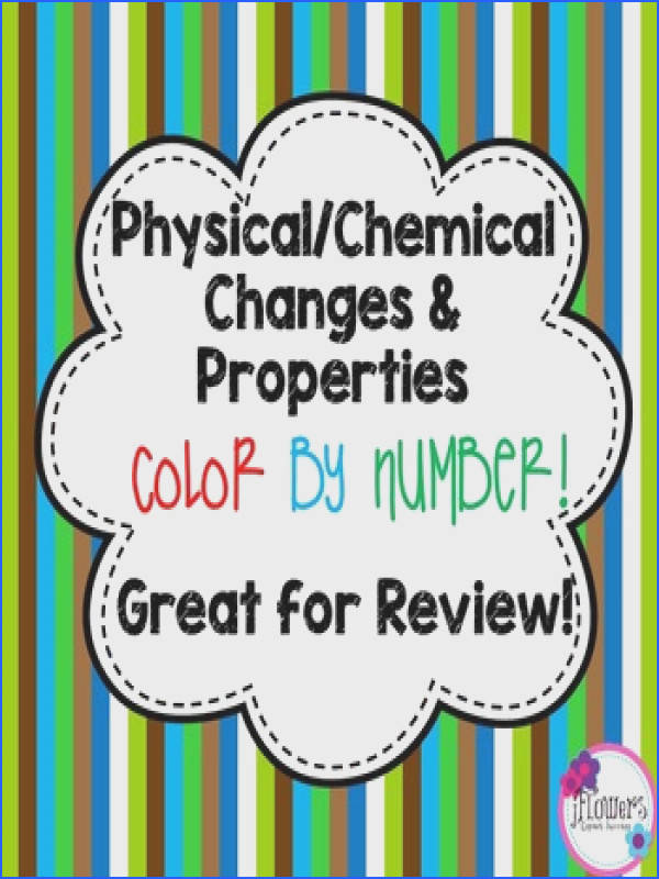 Physical & Chemical Changes Color by Number Great for Review