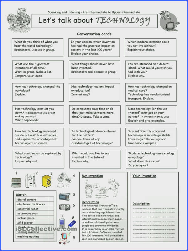 Let s talk about TECHNOLOGY worksheet Free ESL printable worksheets made by teachers