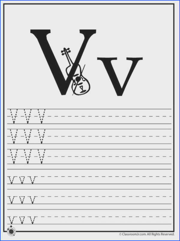 Learning ABC s Worksheets Learn Letter V – Classroom Jr