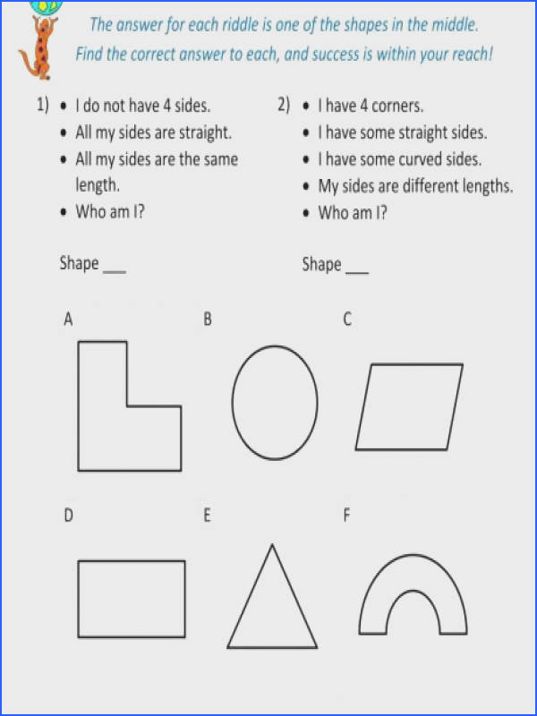 solid fun math worksheet answers resume worksheets 5th grade geometry riddl a part of under Math