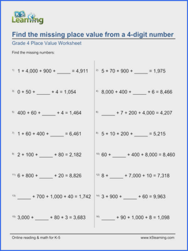 Place Value Expanded Form Worksheets Worksheets for all Download and Worksheets