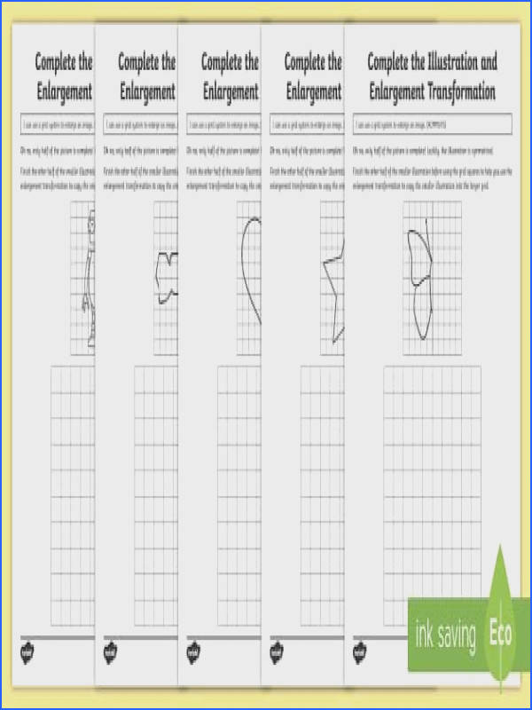 plete the Illustration and Enlargement Transformation Activity Sheets Australia Australian Curriculum Geometry and Measurement