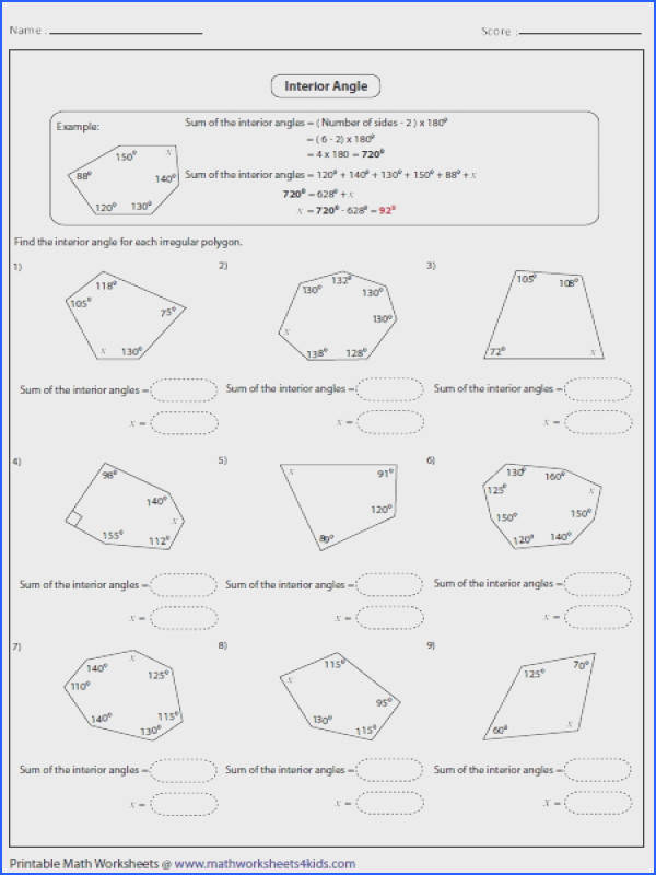 Transform Polygons Angles Worksheets For Your Smart Polygon Exterior Angle Sum Worksheet Worksheets Sheet Kids