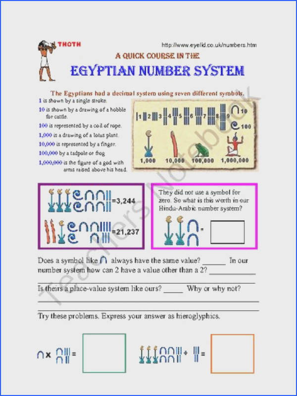 Power Point Ancient History Egyptian Number System panion Worksheets from Mrs Mcs Shop on