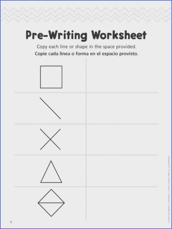 Pre Writing Worksheet Bilingual Pre Writing Practice Page
