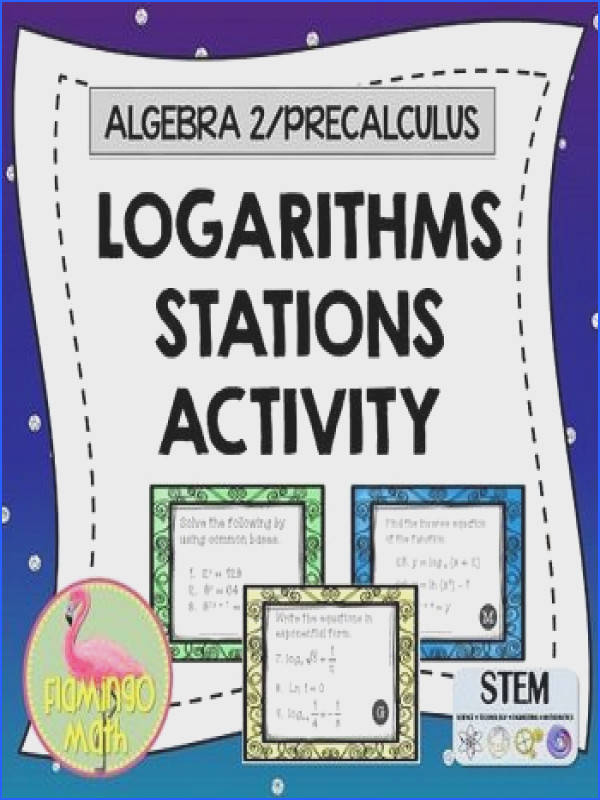 PreCalculus Algebra 2 Logarithms Stations Activity