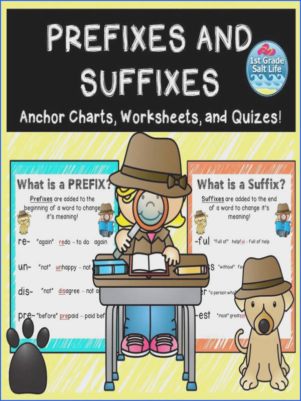 Prefixes and Suffixes Posters and Worksheets