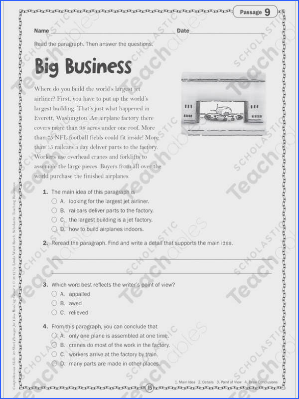 prehension Worksheets for Grade 3 Unique Big Business Close Reading Passage Gallery prehension Worksheets for