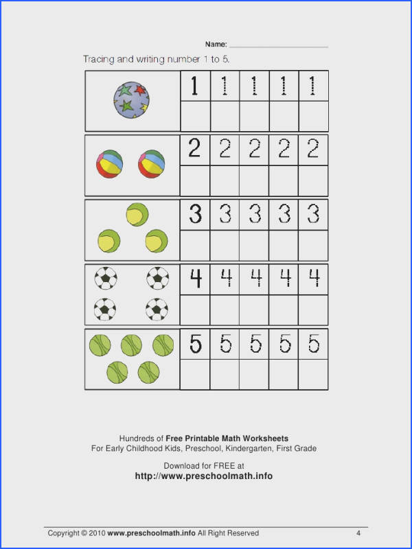 Preschool Math Worksheet Worksheets for all Download and Worksheets