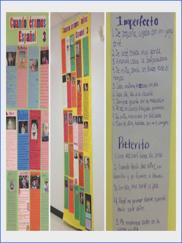 Preterite Vs Imperfect This is a project I like to use at the beginning of