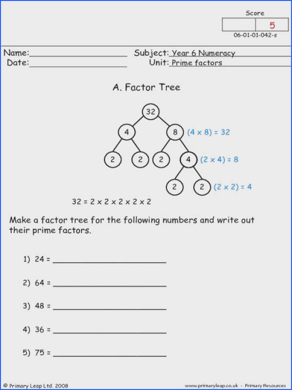 Factor Tree Worksheets  Mychaumecom Prime Factorization Worksheets Th Grade Math Worksheets