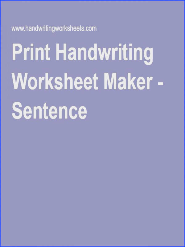 Handwriting · Print Handwriting Worksheet Maker