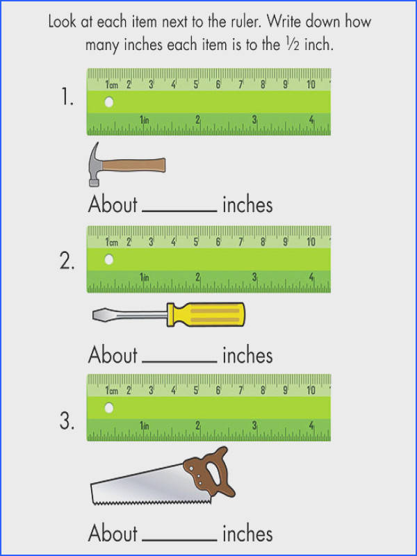 Download and print 13 different free math and measurement worksheets