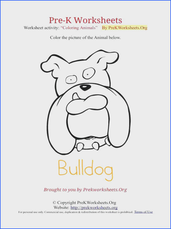 printable pre k worksheets to her with k animal coloring bulldog amazing printable preschool worksheets age 3