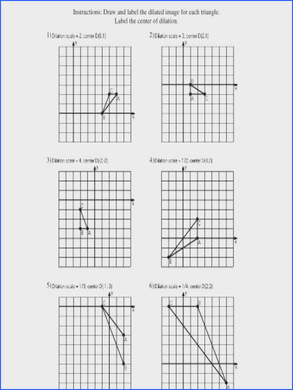 printables dilation worksheet ronleyba worksheets dilations math dilations a part of under Math Worksheet