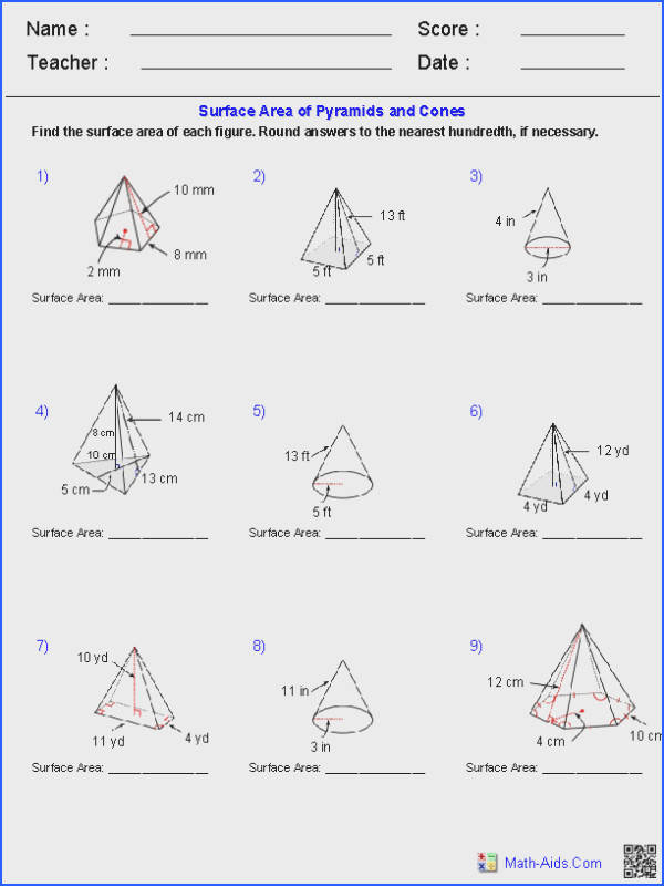 Prisms And Cylinders Worksheet Worksheets for all Download and Worksheets