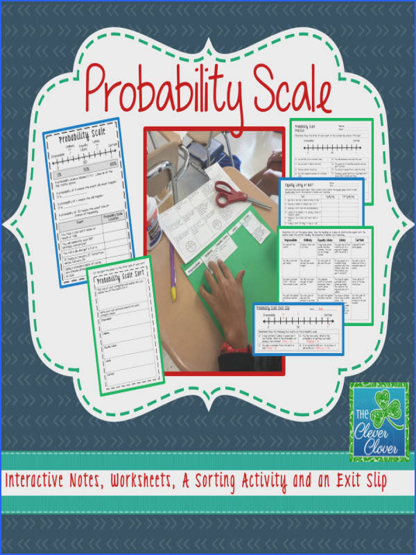 Probability Notes Worksheets Sort Exit Slip & Quiz