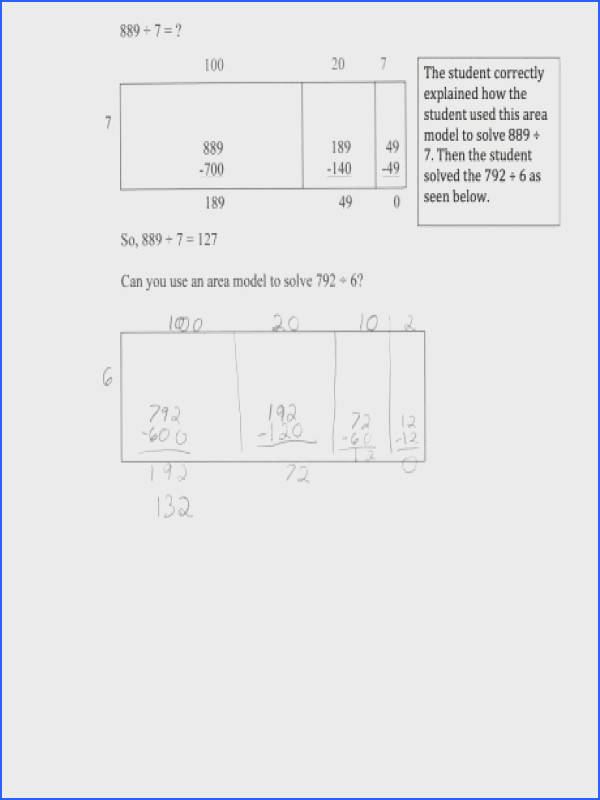 dividing using an area model students are asked to interpret a math multiplication array worksheets mfas dividingusinganareamodel i