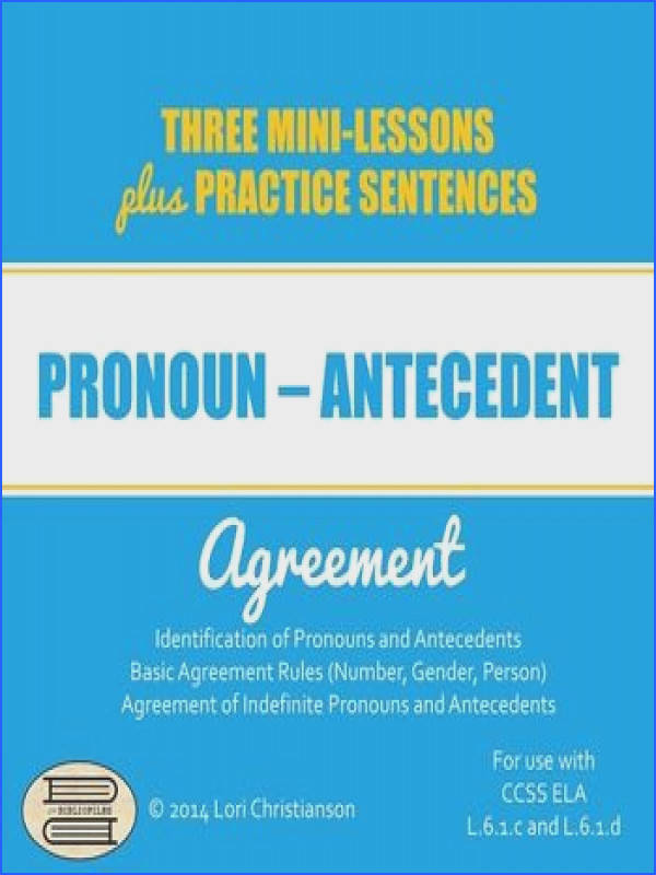 Pronoun Antecedent Agreement PowerPoint with Three Minilessons
