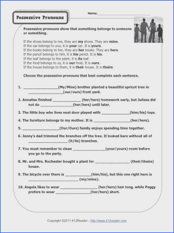 Pronouns Worksheets For 1St Grade Worksheets for all Download and Worksheets