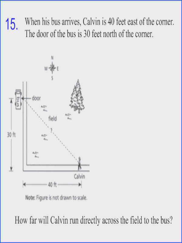 Pythagorean theorem word problems question answer with answers perfect illustration r 1 15