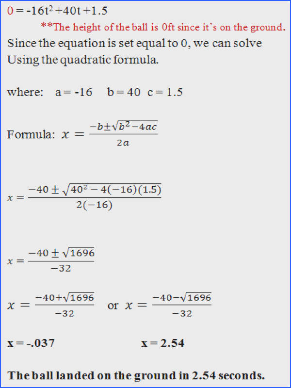 Quadratic Equation Word Problems Worksheet With Answers
