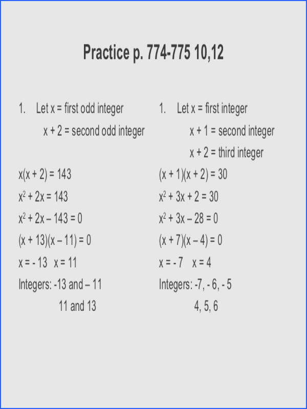 Printables Quadratic Formula Word Problems Worksheet solving quadratic equations by factoring word problems worksheets quadratics worksheet