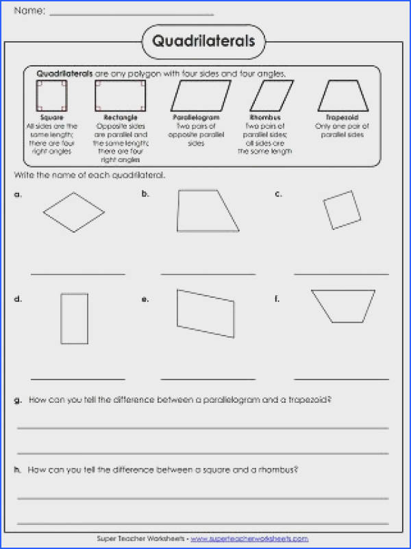 Quadrilaterals Worksheet School Math Pinterest Image Below Quadrilateral Worksheets