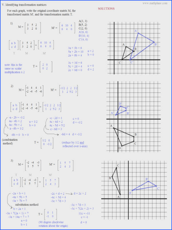 Math Worksheets Coordinates Maths Plane Matrix Iii Coordinate Geometry Picture Worksheet 3 Solu Christmas Ks1 Aids