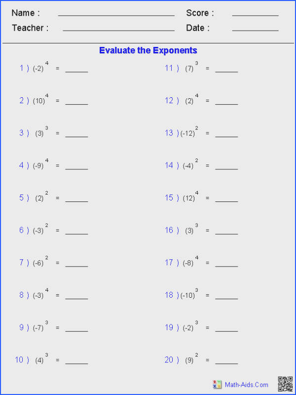Radical Exponents Worksheet Worksheets for all Download and Worksheets
