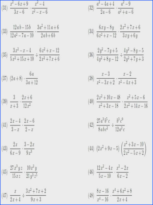 multiplying and iding rational expressions worksheet answers s luxury