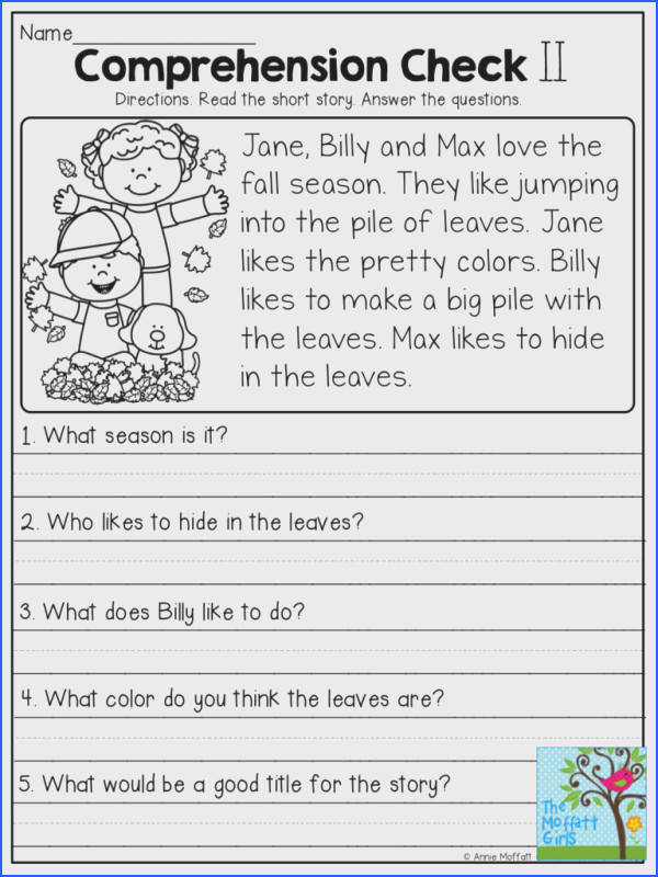 free reading prehension worksheets for 2nd grade