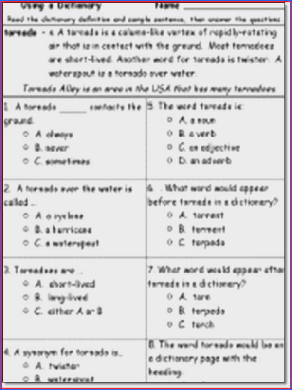 Reading prehension Worksheets For 3Rd Grade Worksheets for all Download and Worksheets