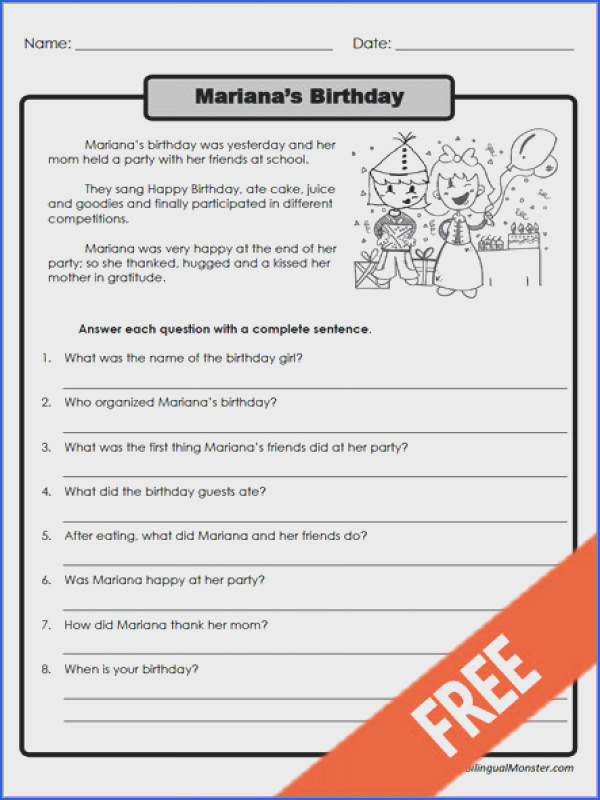 Reading prehension Worksheets For 3Rd Grade