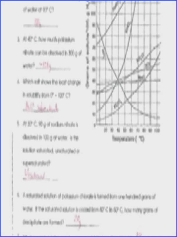 34 Solubility Curve Practice Problems Worksheet 1 Answers Pin