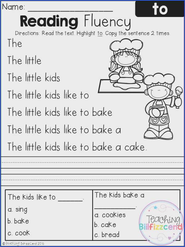 Reading Worksheets Kindergarten Free Worksheets for all Download and Worksheets