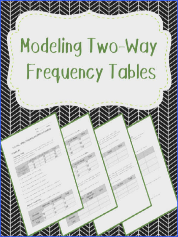 Modeling with Two Way Frequency Tables
