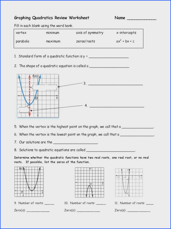 review solving quadratics by graphing 1 638