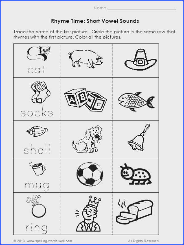 Free Printable Rhyming Worksheets For Kindergarten Rhyming Worksheets Kindergarten Free Switchconf