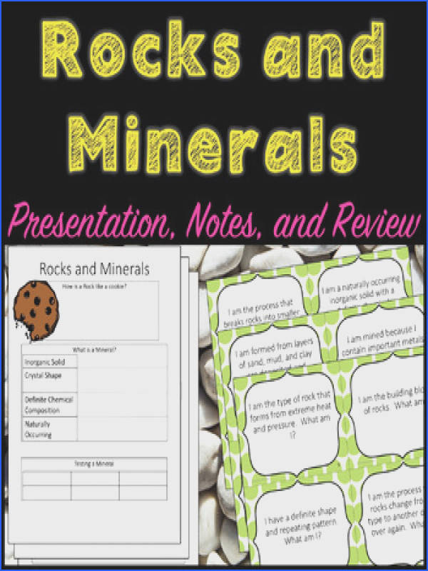 Rock Cycle Presentation Guided Notes and Task Cards