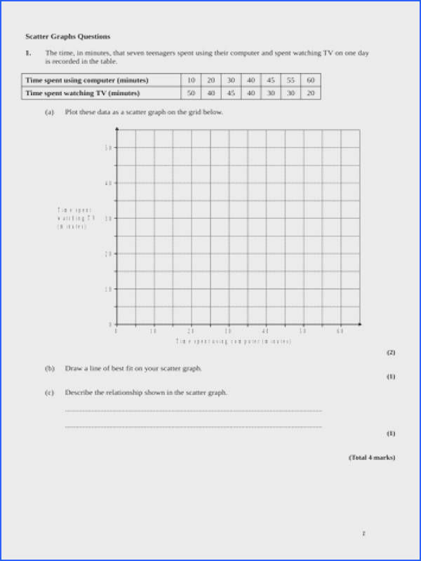Scatter Graphs Lesson and GCSE Questions by alutwyche Teaching Resources Tes