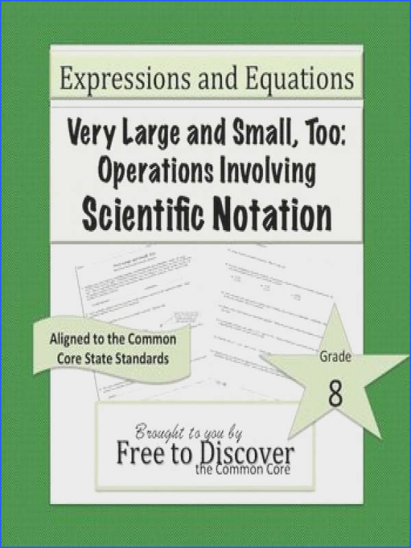 Scientific Notation Discovery Worksheets