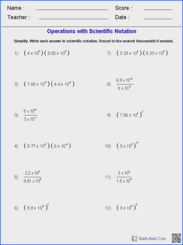 Worksheets for all Download and Worksheets Converting Forms Worksheets scientific notation