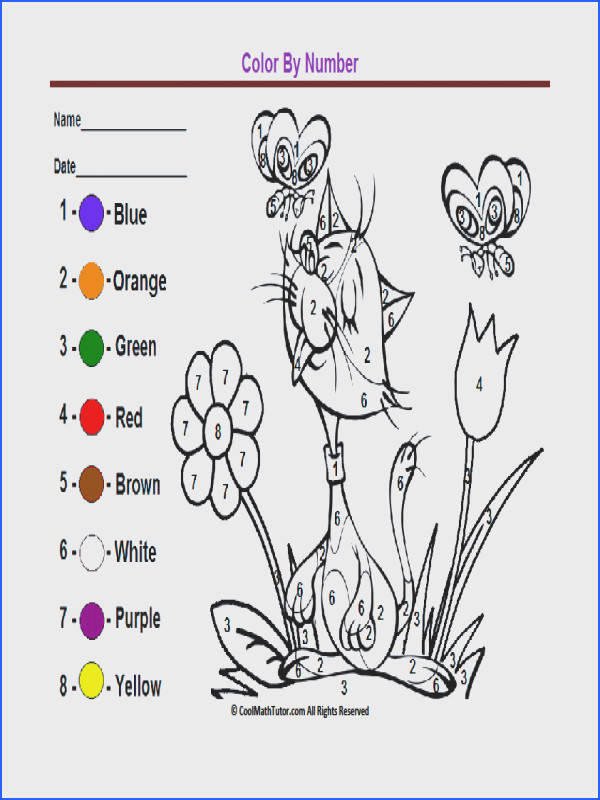 See Dinosaur Color By Number Worksheets Math Color By Number Coloring Coloring Pages For Kids