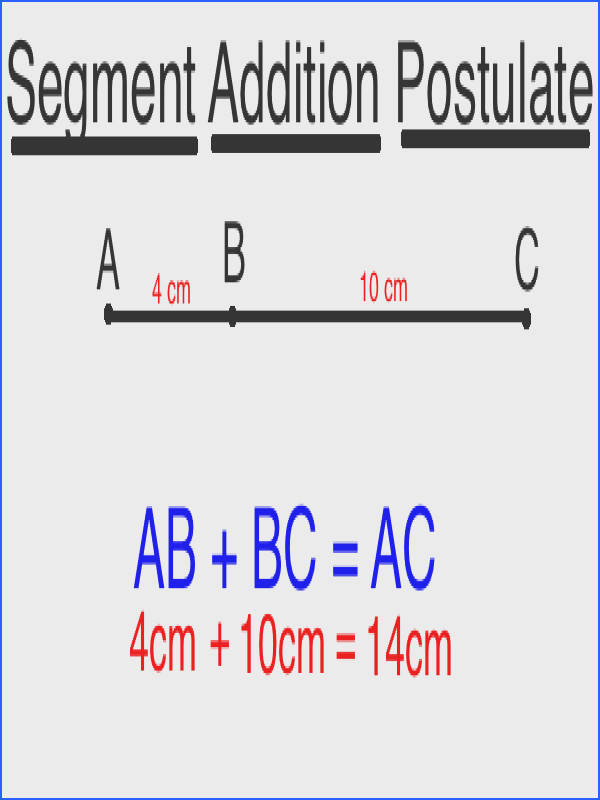 Segment Addition Postulate Diagram 1
